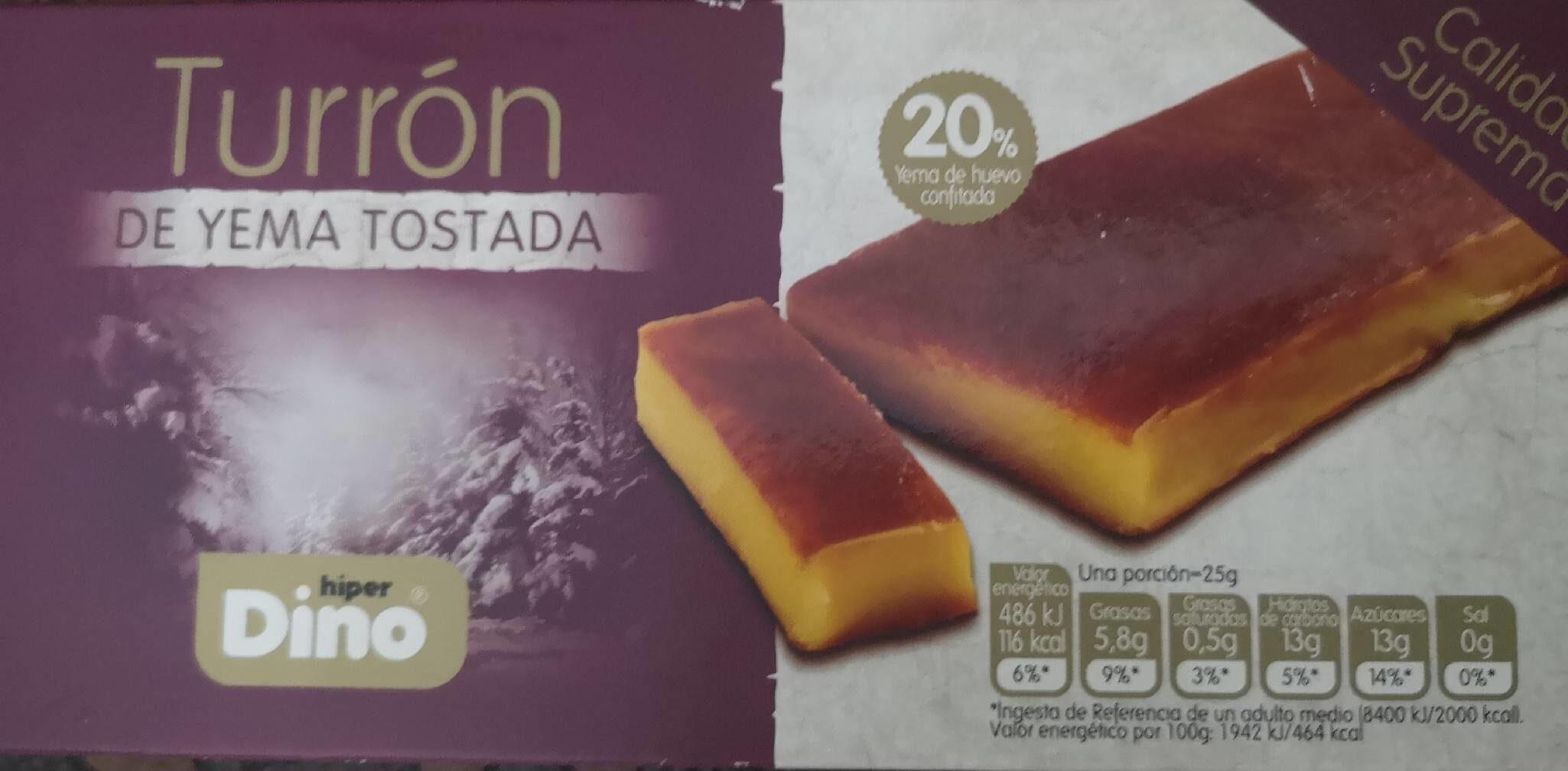 Turrón de Yema tostada - Producto - es