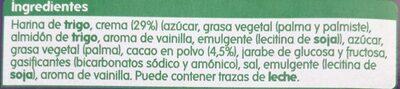 Galletas al cacao rellena crema - Ingredients