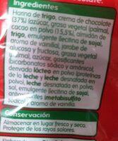 Rellenas de crema de chocolate - Nutrition facts - es