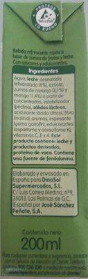 Zumo Alisio - Voedingswaarden - es