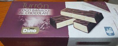 Turrón Coco banado al chocolate