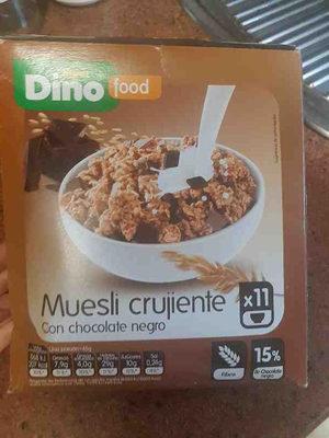 Muesli crujiente con chocolate negro - Product - es