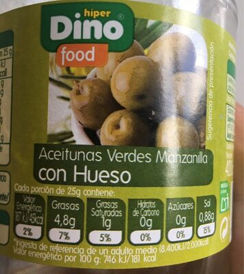 Aceitunas verdes manzanilla