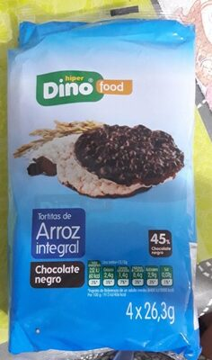 Tortitas de arroz integral (chocolate negro) - Produit