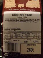 Burguer - Voedigswaarden