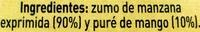 Zumo de manzanas y mangos exprimidos - Ingredientes