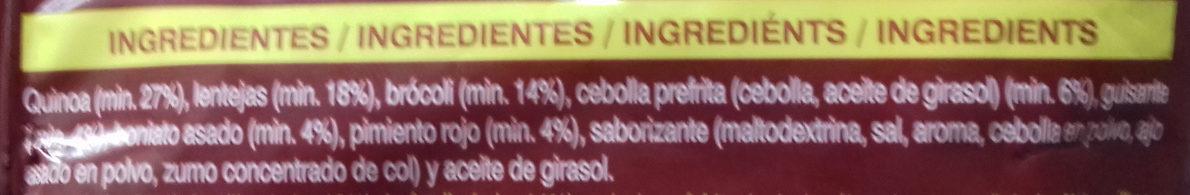 Salteado de Quinoa - Ingredients