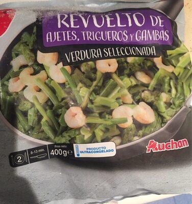 Revuelto de ajetes, trigueros y gambas verduras seleccionadas - Prodotto - es