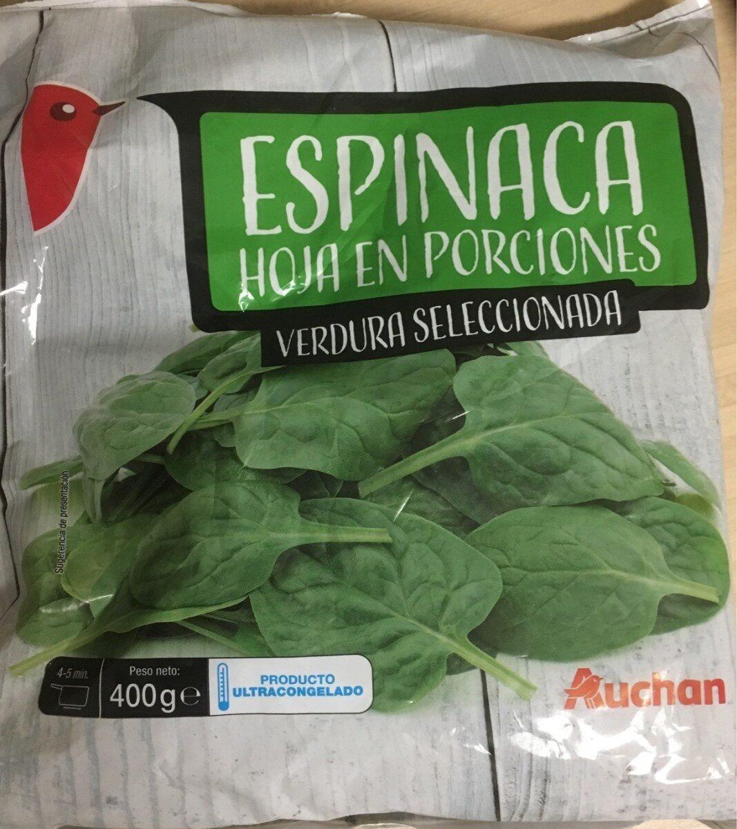 Espinacas en porciones - Producto