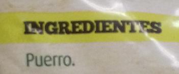 Puerro troceado - Ingredientes