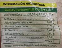 Puerro troceado - Información nutricional
