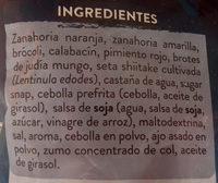 Wok de verduras asiático - Ingrédients - es