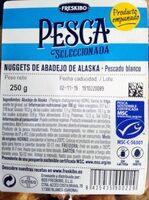 Nuggets de abadejo de Alaska - Información nutricional - es