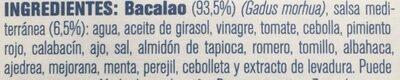 Bacalao con salsa a la mediterránea - Ingredientes - es