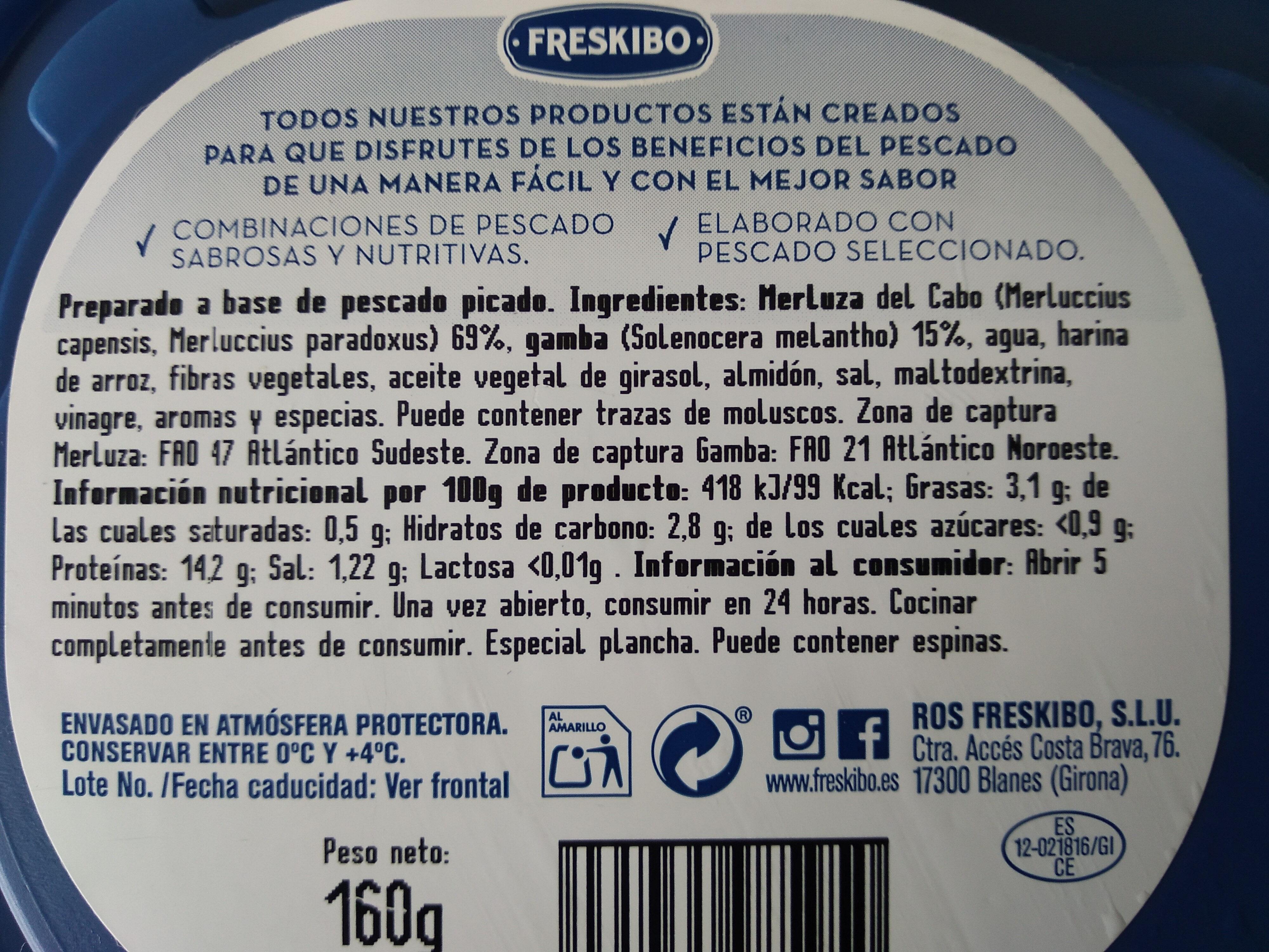 Marinera Merluza & Gambas - Ingredients - es