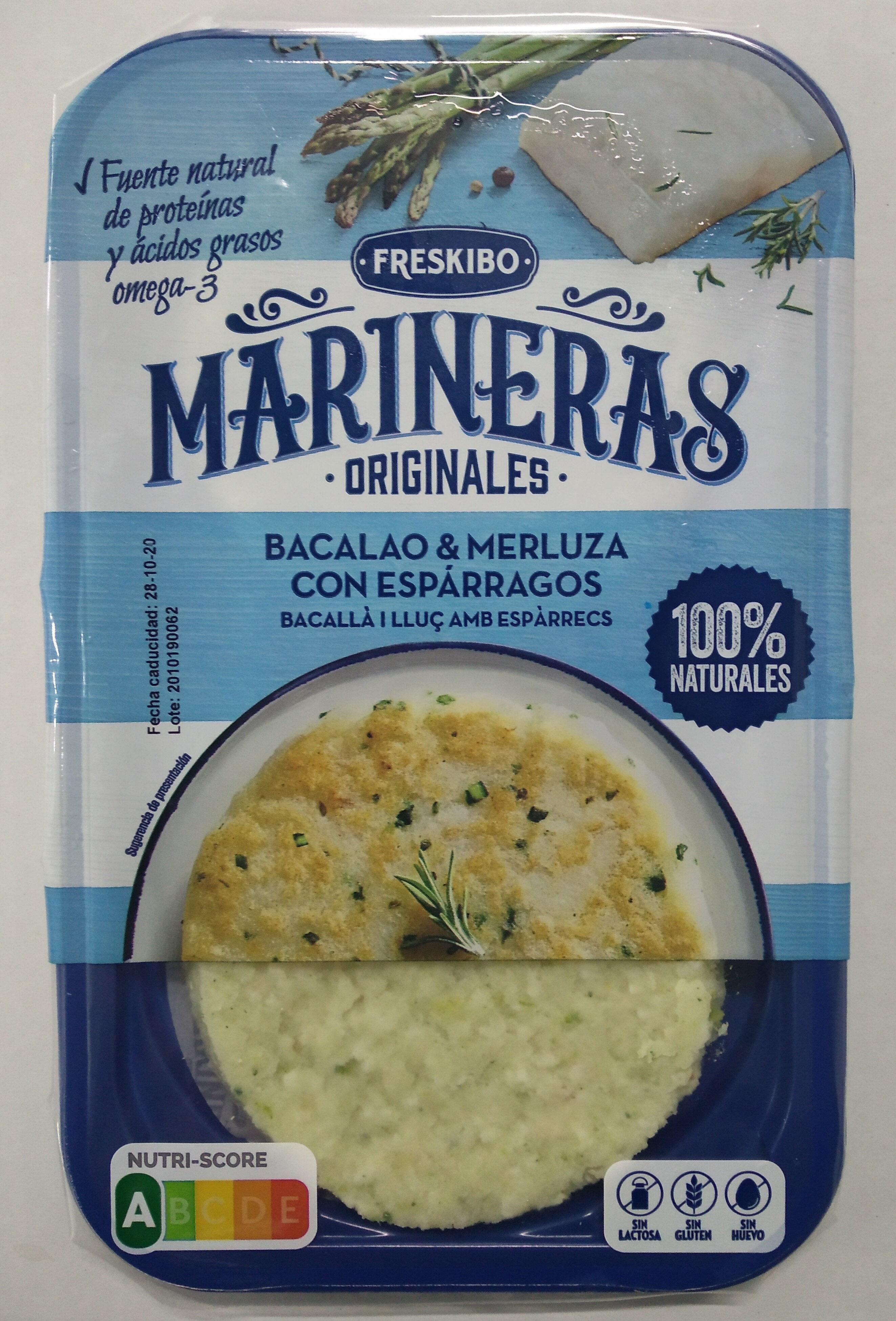 Marinera Bacalao & merluza con espárragos - Product - es