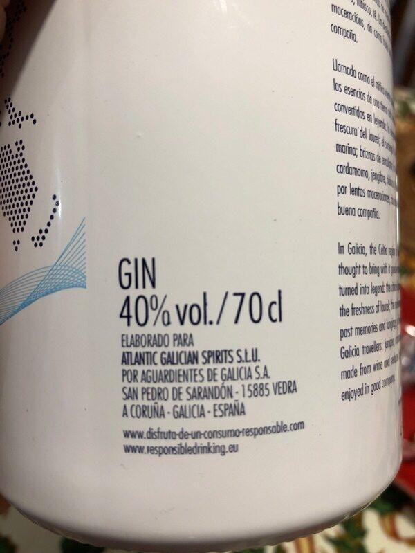Nordes Atlantic Galician Gin - Ingrediënten - fr
