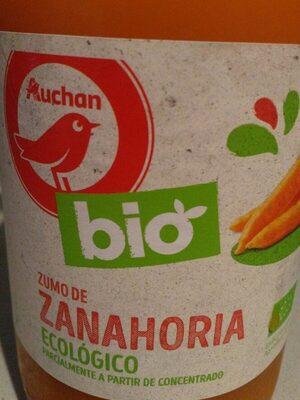 Zumo de zanahoria ecológico