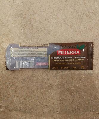 Barrita de chocolate negro y almendras sin gluten - Producto