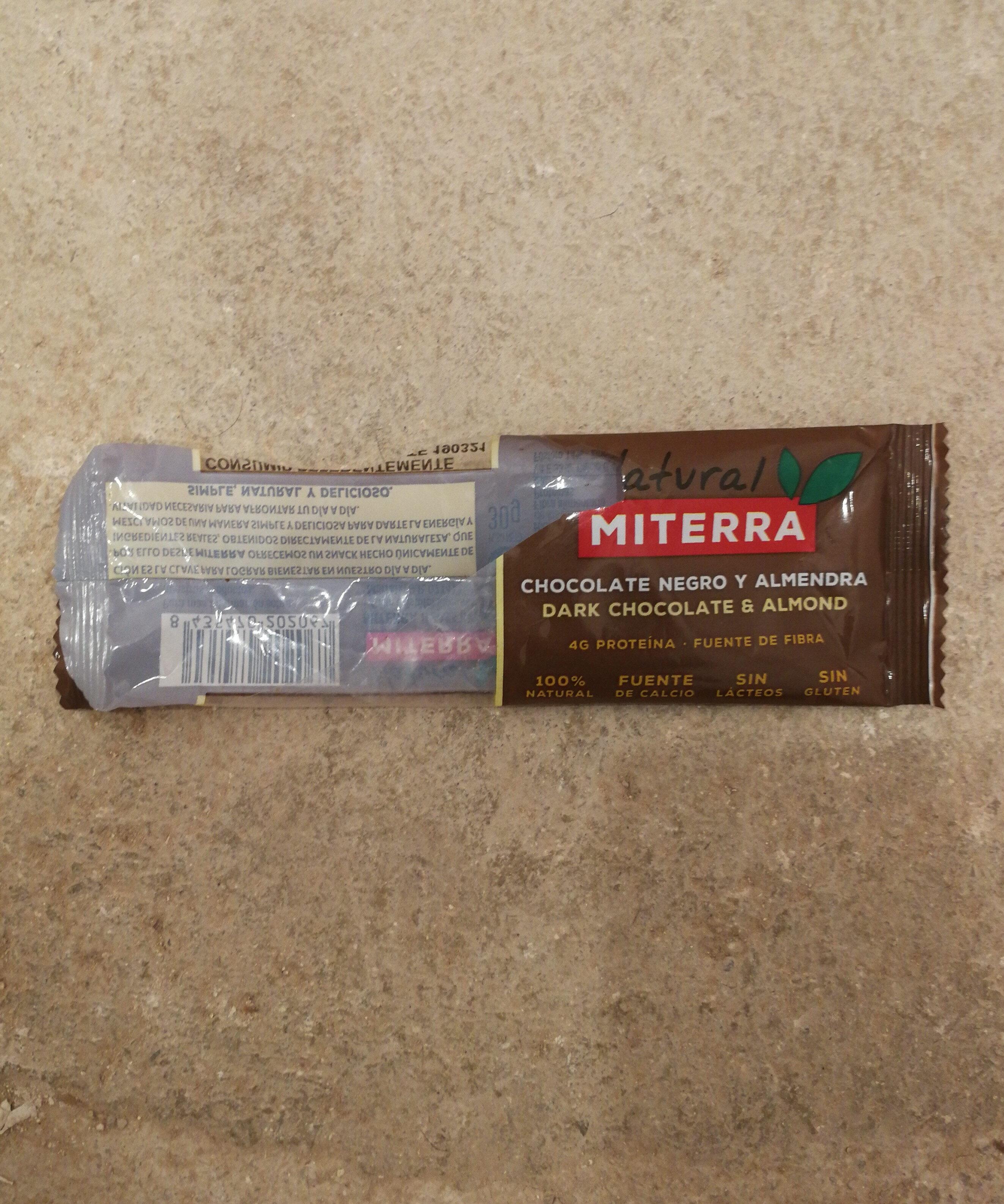 Barrita de chocolate negro y almendras sin gluten - Producte - es
