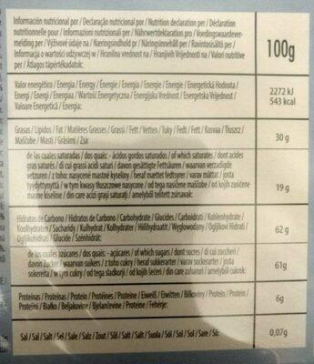 Calendrier de l'Avent pokémon - Informations nutritionnelles - fr