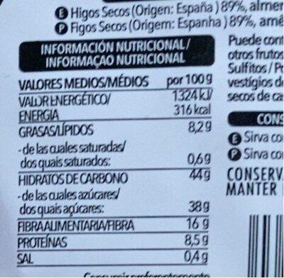 Pan de Higo con Almendras - Información nutricional