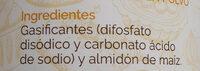 Levadura en polvo - Ingredienti - es
