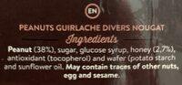Turron guirlache de cacahuete artesano - Ingredients