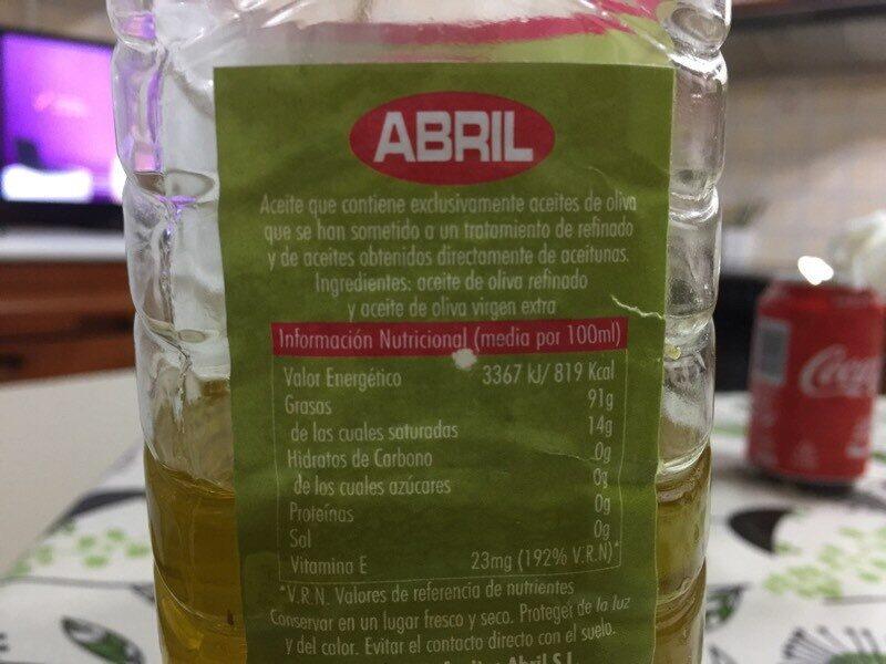 Aceite de oliva suave 0,4º - Ingrediënten