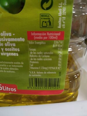 Aceite de oliva suave 0,4º - Ingredients - es
