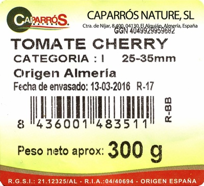 Tomates cherry - Ingredients