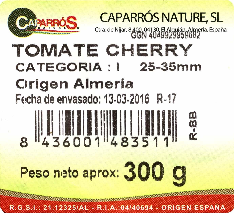 Tomates cherry - Ingredients
