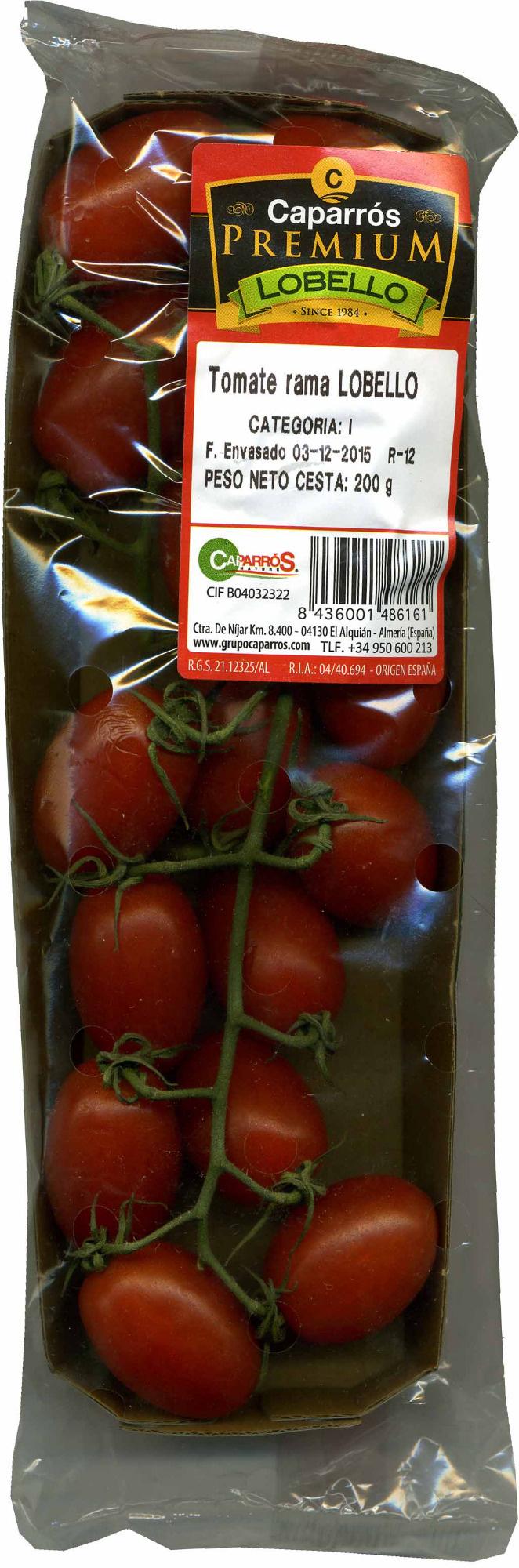Tomates cherry pera en rama - Producto - es