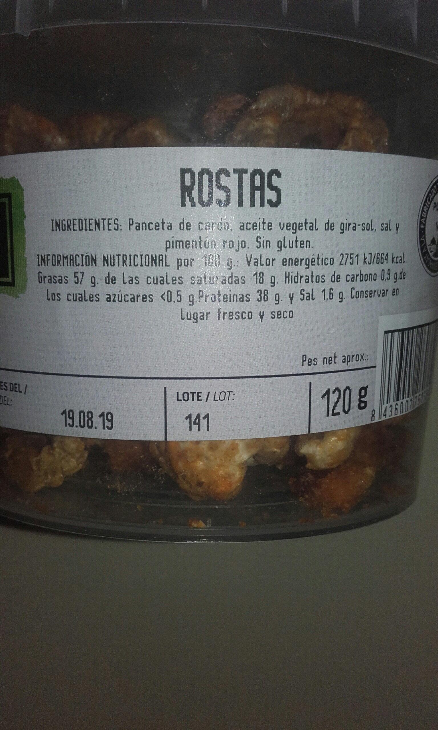rostas - Ingredients
