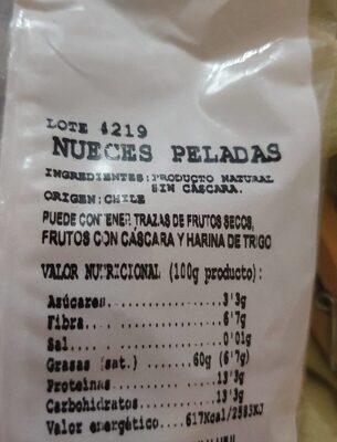 Nueces - Información nutricional