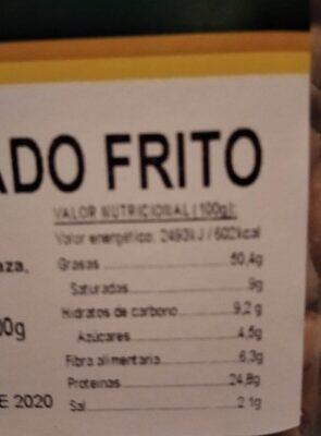 Cacahuate repelado frito - Información nutricional - es