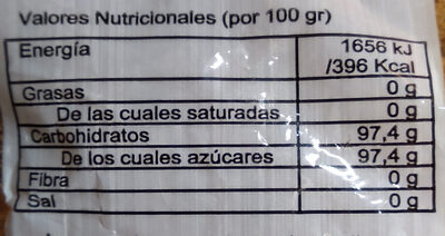 Panela - Nutrition facts