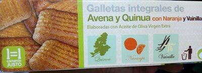 Galletas integrales de avena y quinua con naranja y vainilla - Product - es