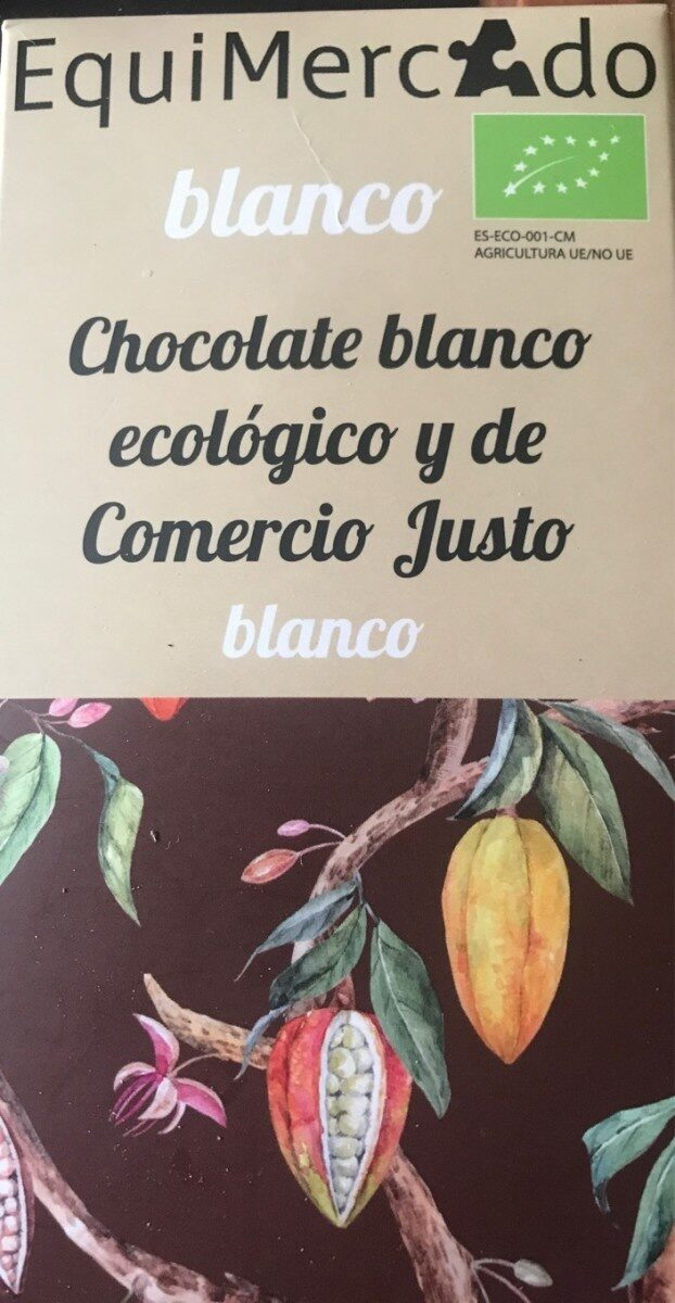Chocolate blanco ecológico y de Comercio Justo - Produit - es