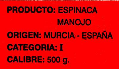 Espinacas - Ingredientes