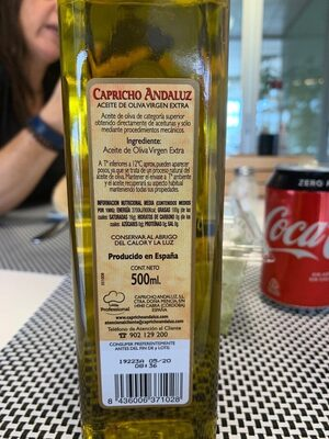 Aceite de Oliva Virgen Extra - Nutrition facts
