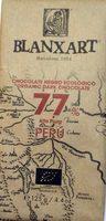 Chocolate negro ecológico Peru 77 % - Producte - es