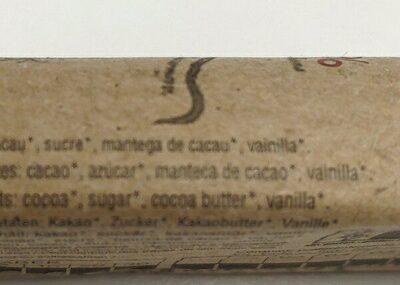 Chocolate negro - Ingrédients - es