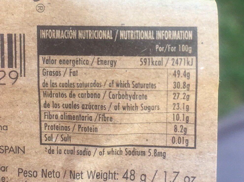 Chocolate negro - Informations nutritionnelles - es