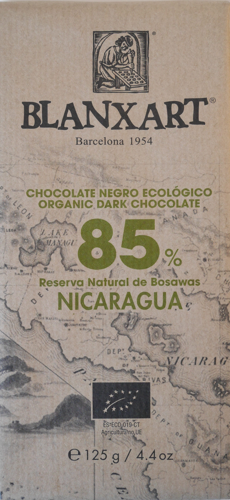 Chocolate negro ecológico 85 % Nicaragua - Producto