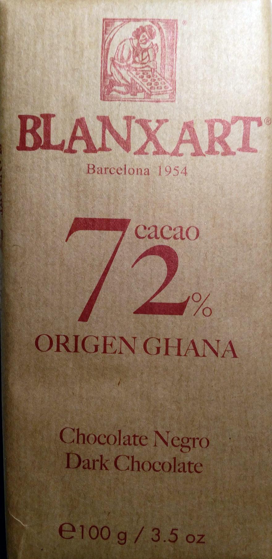 Dark chocolate 72 % Ghana - Producto