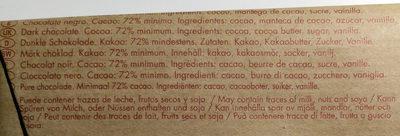 Dark chocolate 72 % Ghana - Ingredientes