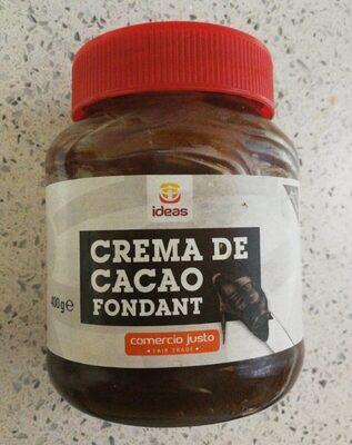 Crema de cacao fondant