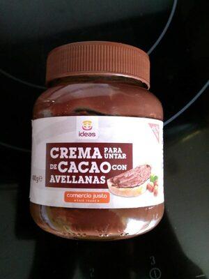 Crema de cacao con avellanas