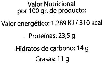 Cacao puro en polvo - Informations nutritionnelles - es